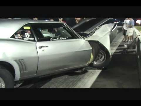 69 CAMARO HITS WALL HARD
