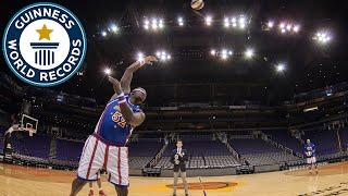Farthest blindfold basketball hookshot - Guinness World Records