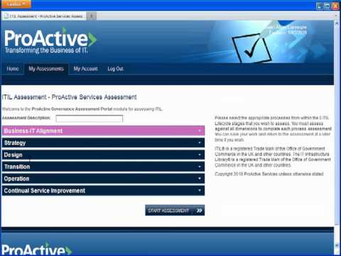 Governance Assessment Portal Demonstration