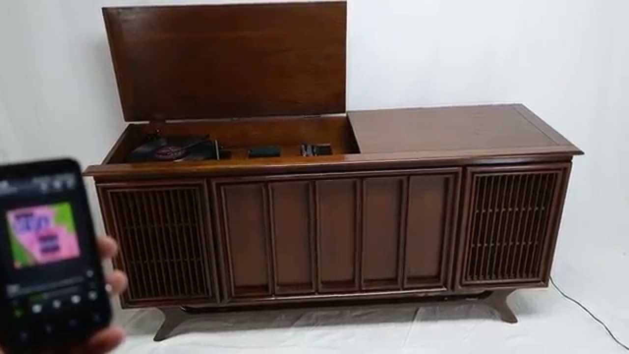 For Sale Mid Century Modern Sylvania Stereo Console Record Player ...