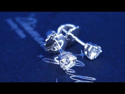 Пусеты с бриллиантами от Diamond Gallery, артикул 82my2
