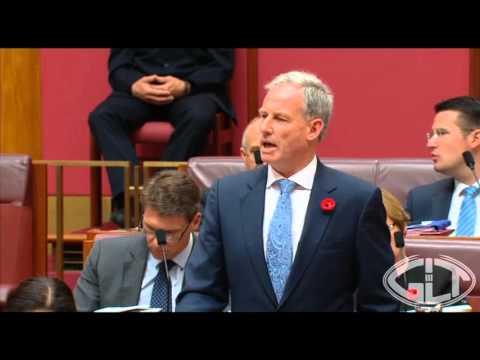 Senator Lazarus demands a response regarding Queensland drought and water infrastructure solutions.
