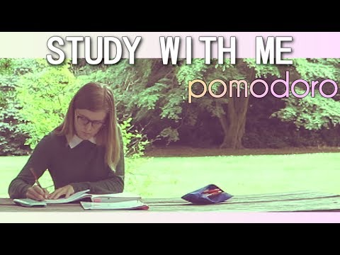 STUDY WITH ME.. in the PARK!  (POMODORO SESSION) (25 MIN)