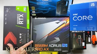 intel 11th Gen Core i5 11400F GIGABYTE B560M AORUS PRO AX PNY XLR8 RTX3060 GAMING PC Build Benchmark