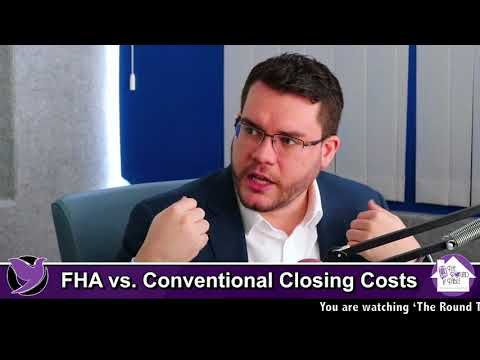 FHA vs  Conventional Closing Costs