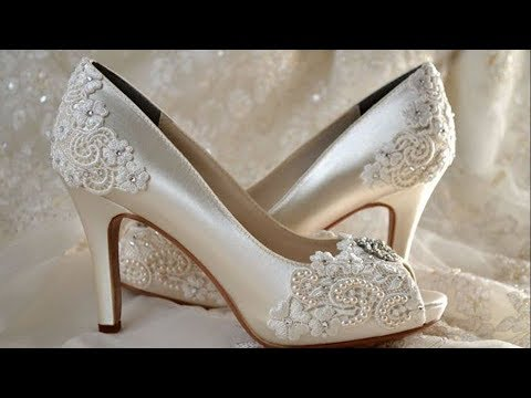 Wedding Shoes Medium Heels  Wedding White Ivory Lace Party Bridal Bridesmaid