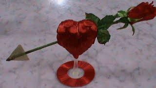 DIY/МК Как сделать сувенир ко дню Св. Валентина в стиле канзаши