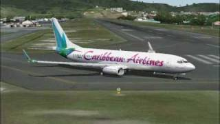 Flying Caribbean Airlines Boeing 737-800 on Flight Simulator (FS2004)