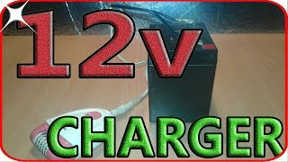 How to charge 12v battery with lady shaver adapter