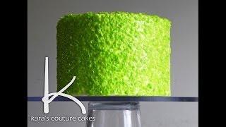 Kara's Couture Cakes - Applying Gelatin Sequins