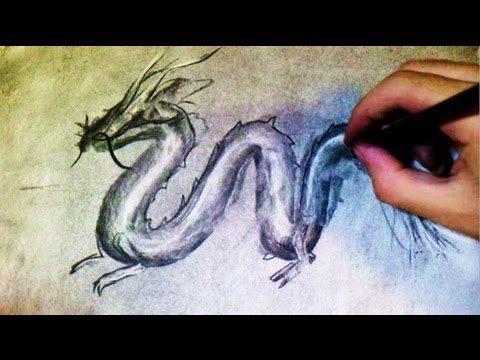 Comment dessiner un dragon chinois en 1 min technique youtube - Dessin un dragon ...
