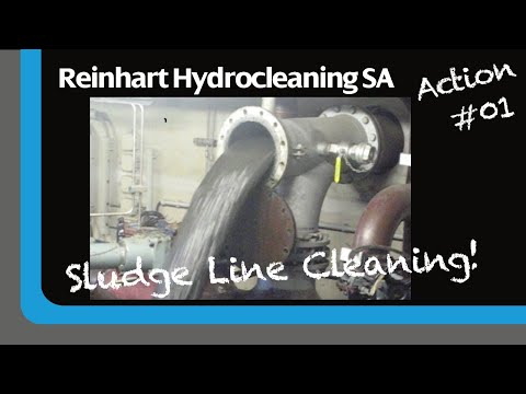 Sludge Line Cleaning With RCT By Reinhart Hydrocleaning SA. Pre-Cleaning-Tool With Adapted Bypass.