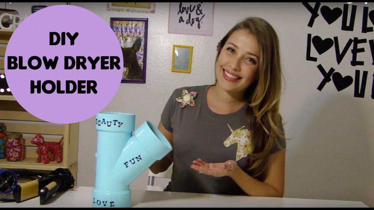 Diy Blow Dryer Holder Youtube