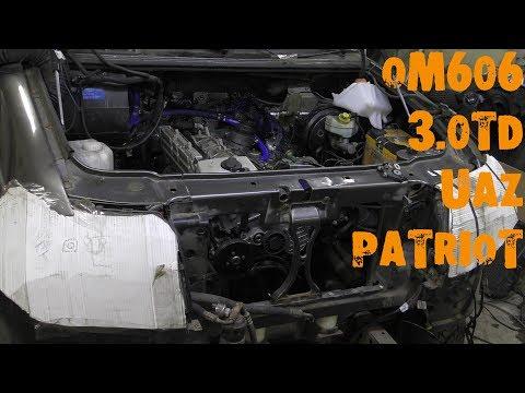 УазТех: Установка om606TD на УАЗ Патриот, с КПП Даймос, ЧАСТЬ 1