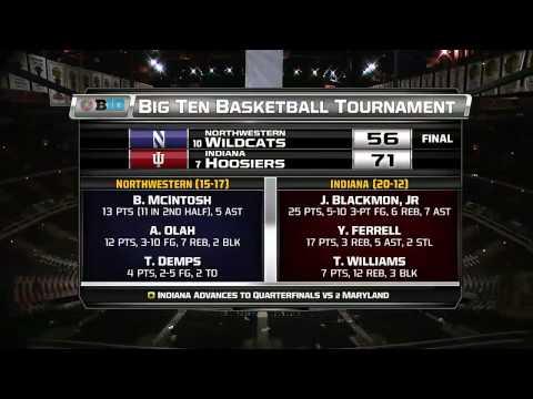 Northwestern vs  Indiana   2015 Big Ten Men