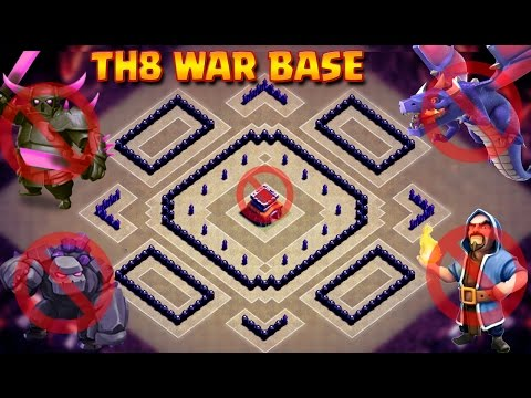 TH8 New War Base 2017 | UNBEATABLE  Anti 2 Star Base | Anti Dragon | Anti GOWIPE