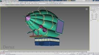 3ds Max для начинающих. Проект ''Дирижабль'' Моделирование двигателя (кронштейн)