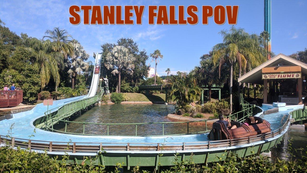 Stanley Falls POV, Busch Gardens Tampa Log Flume   Non-Copyright