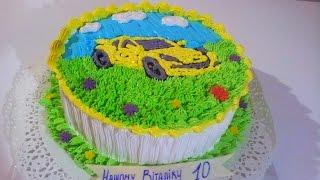 Торт с машиной МК Кремовые торты для детей  Cake machine MK