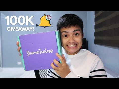HAPPY 100K SUBS JESIBELS! MAY PA-GIVEAWAY AKO! (YumeTwins Unboxing)