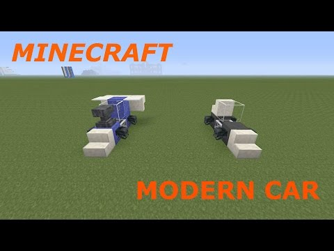 how to make a car in minecraft easy