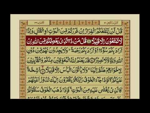 Surah Ahzab | with Urdu Translation | Mishary Rashid Alafasy