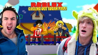 ROBLOX BOXING FIGHT - DONUT CALLS OUT LOGAN PAUL FOR A BOXING FIGHT!!