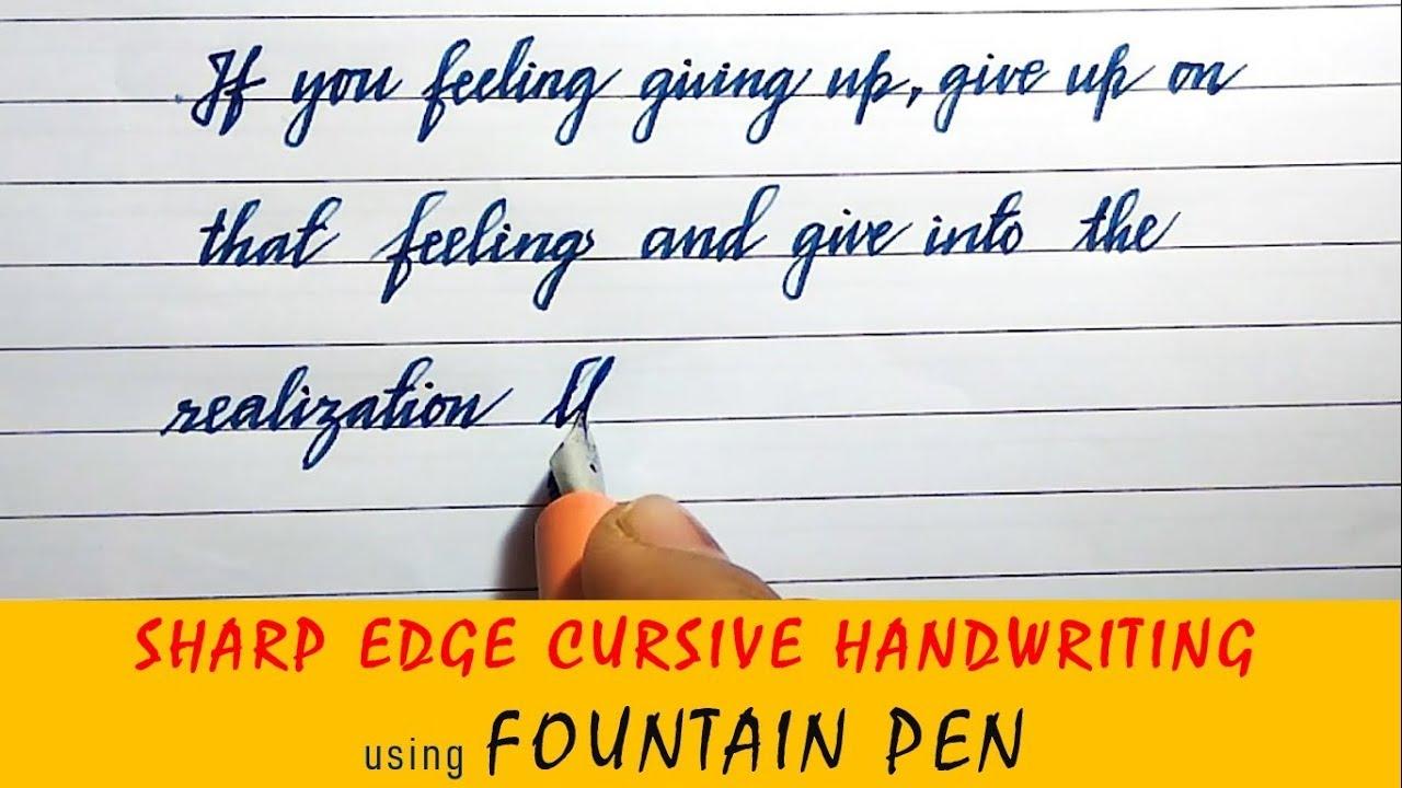 Beautiful English handwriting |English neat and clean sharp edge cursive  handwriting styles # 2