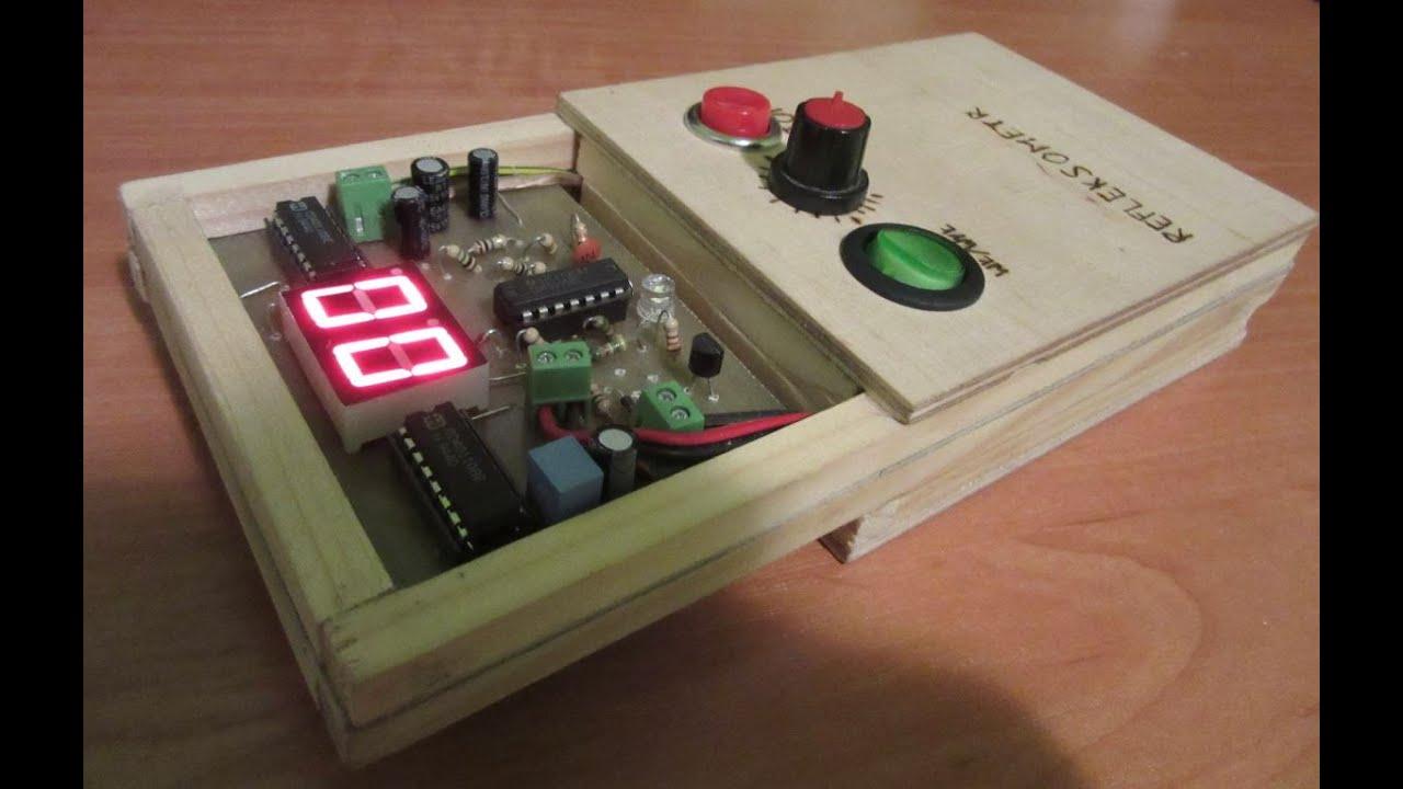 Reflexometer homemade electronic game diy youtube for Diy electronic gadgets