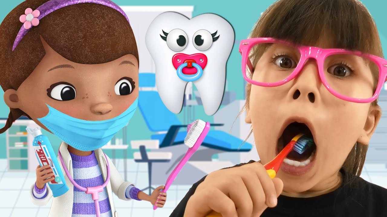 Angela like Abby Hatcher Pretend Play Dentist | Amazing Stories for Kids with Doc McStuffins