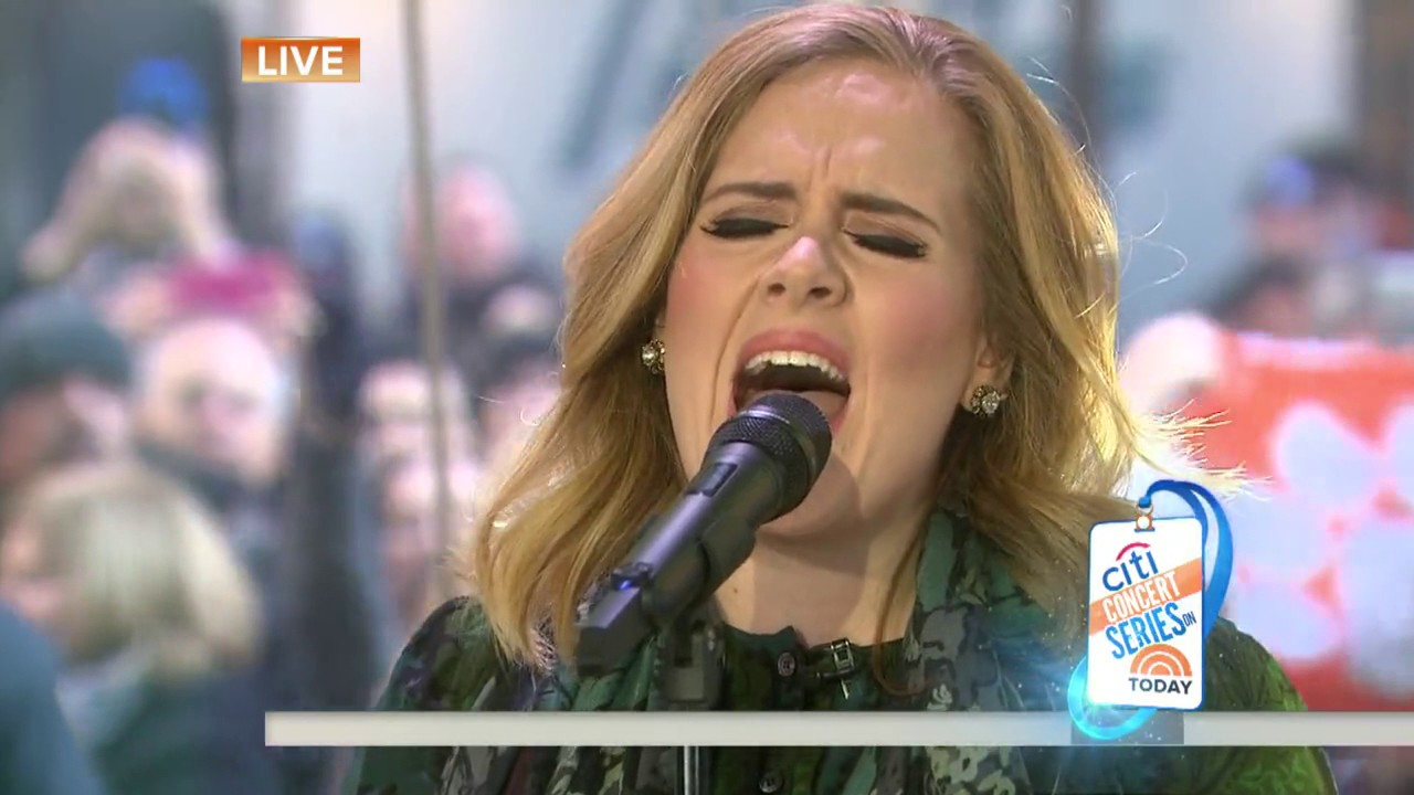 Adele Million Years Ago Live On The TODAY Show 2015