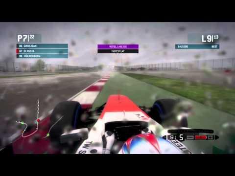 F1 2013 - Quick Race 25% - Silverstone w/Paul Di Resta (Wet) 22nd to ???