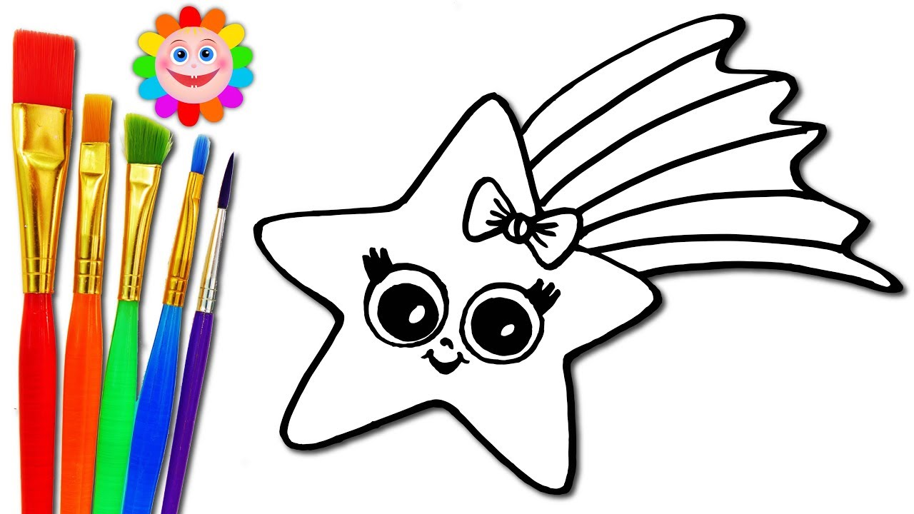 How To Draw A Baby STAR Coloring Page For Kids To Learn