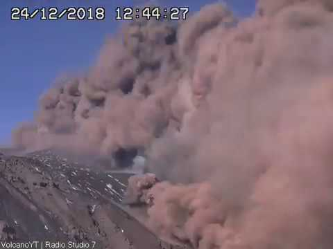 24/12/2018 WITA - Mt Etna Time Lapse | More More  Eruptions