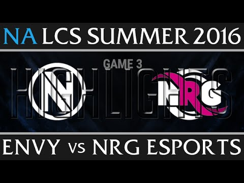 Team Envy vs NRG Esports Game 3 Highlights - NA LCS Week 1 Summer 2016 - NV vs NRG G3 New Flash Game
