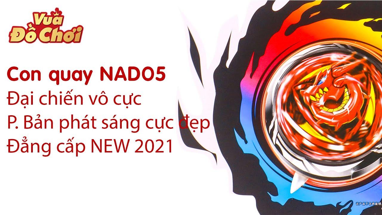 Đại chiến vô cực - Con quay NADO5 - Chiến Thần Chi Dực (Chiến thần bão tố) P.bản phát sáng NEW 2021