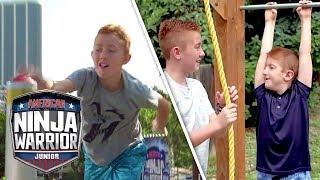 Brothers Bond over Ninja Course! | American Ninja Warrior Junior | Universal Kids