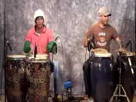 Cuban percussionists, Pedro Martinez and Mauricio Herrera