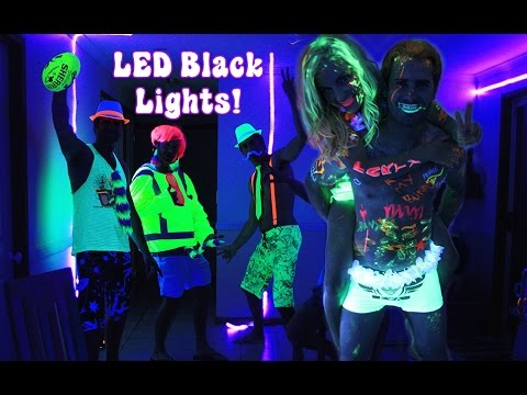 How To Do A Glow In The Dark Black Light Party With LED Black Lights