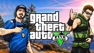 Johnny Cage & Stryker Play - Grand Theft Auto V | MKX vs GTA V GAMEPLAY PARODY!