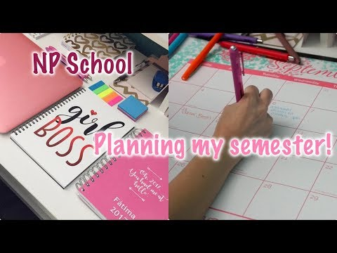 HOW TO PLAN OUT YOUR SEMESTER! | GRAD SCHOOL