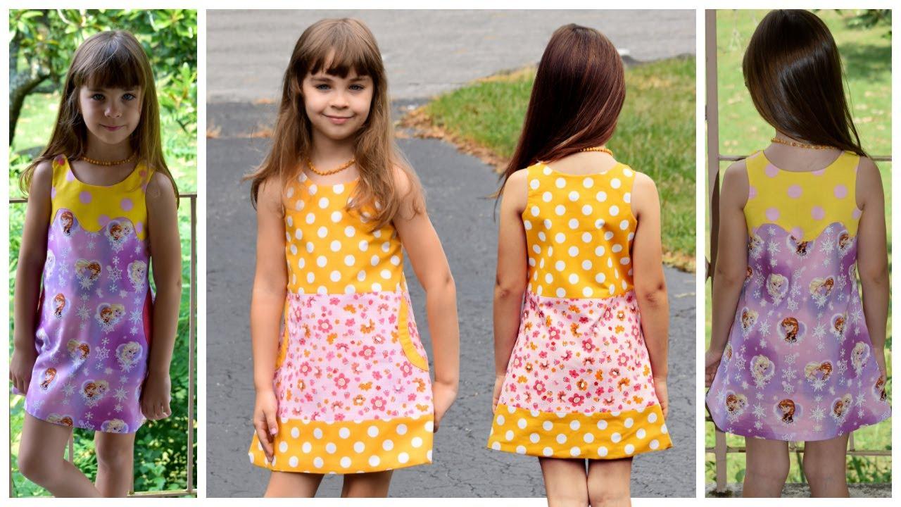 hängerchen nähen- mimi- einführung - kleid nähen, kinderkleid, nähkurs,  kindermode, nähen lernen