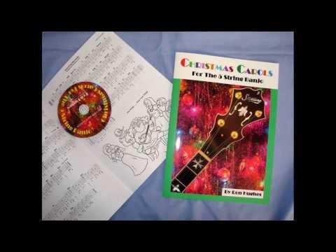 Christmas Carol Banjo Solos - Christmas Carols For 5 String Banjo By Ron Hughes - Tab Book withCD