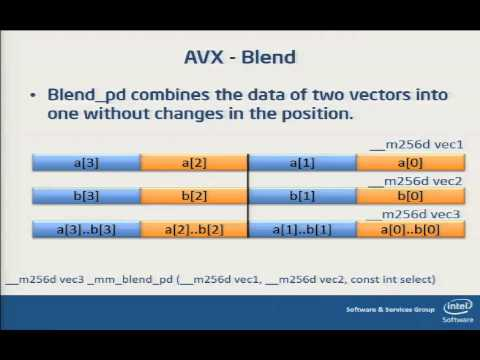 Cray XC30 Day 2 - Programming AVX Intrinsics (Intel Advanced