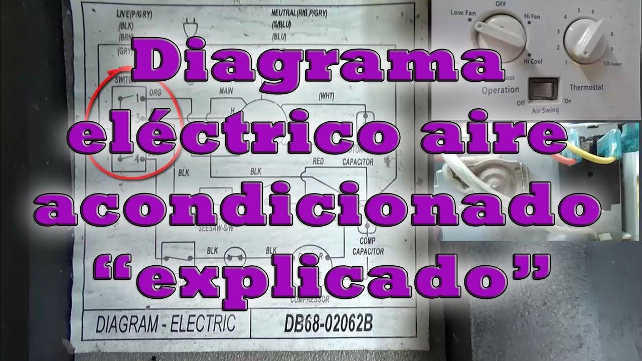 Diagrama El 233 Ctrico Aire Acondicionado Explicado Youtube