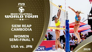 Women's Semi-Final: USA vs. JPN | 2* Siem Reap (CAM) - 2020 FIVB Beach Volleyball World Tour