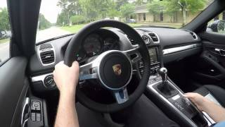 Demo of 2015 Porsche Cayman S manual with Sport Chrono Package and Porsche Sport Exhaust