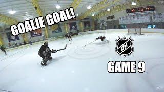 GOALIE GOAL!!! [GoPro Hockey 3 on 3 GAME 9]