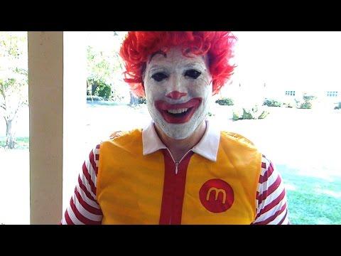 Rowan is terrified of Ronald McDonald!