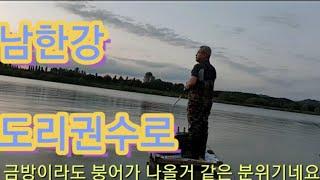 [쪼짜리TV]9.20일 여주 남한강 도리권수로 붕어낚시…